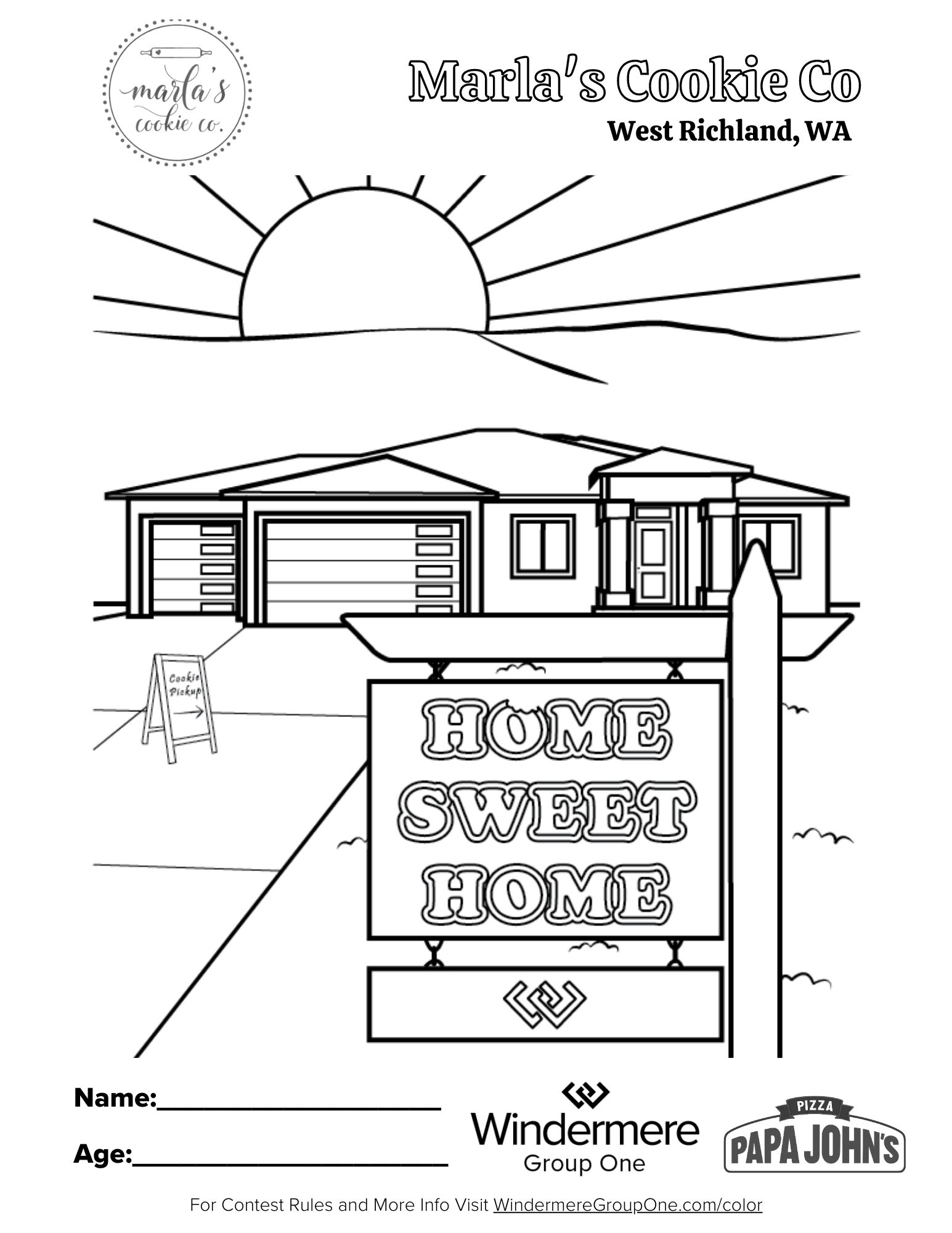 Marla's Cookie Co Coloring Page