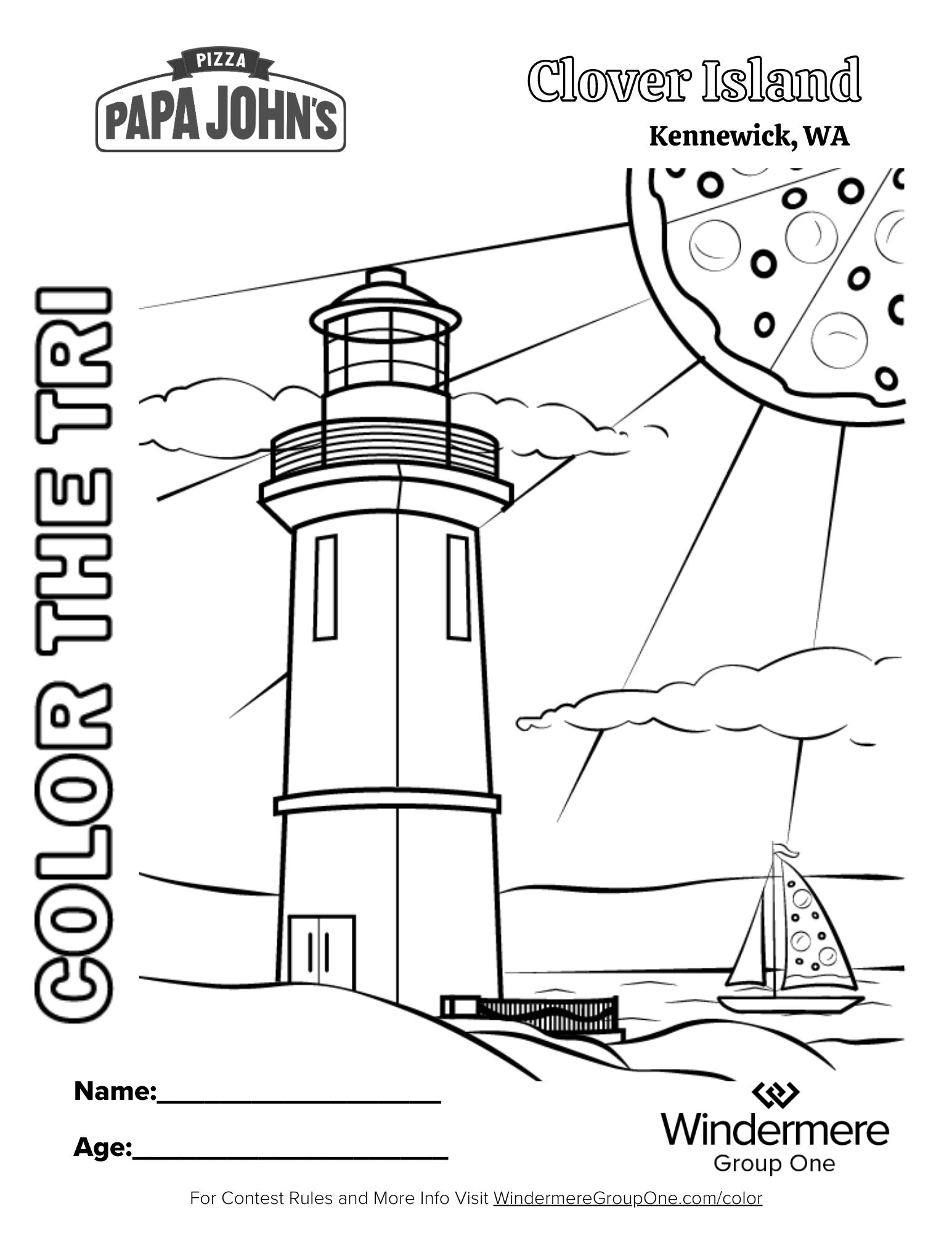 Clover Island Coloring Page